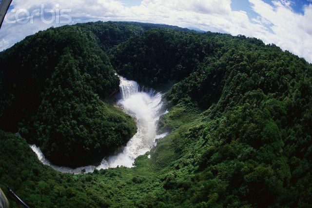 Waterfall in Papua New Guinea Highlands